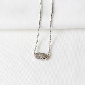 Kendra Scott Jewelry - Kendra Scott Elisa Silver Pendant Necklace Drusy